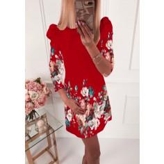 Γυναικείο φόρεμα 504001 κόκκινο