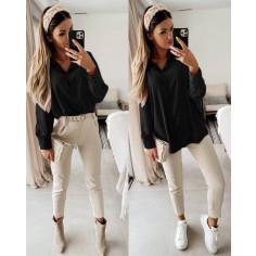 Γυναικείο μακρύ πουκάμισο 5549 μαύρο