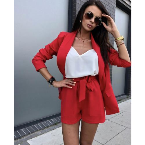630e83e36ffa Γυναικείο σετ σακάκι και σορτσάκι 3356 κόκκινο - Greece