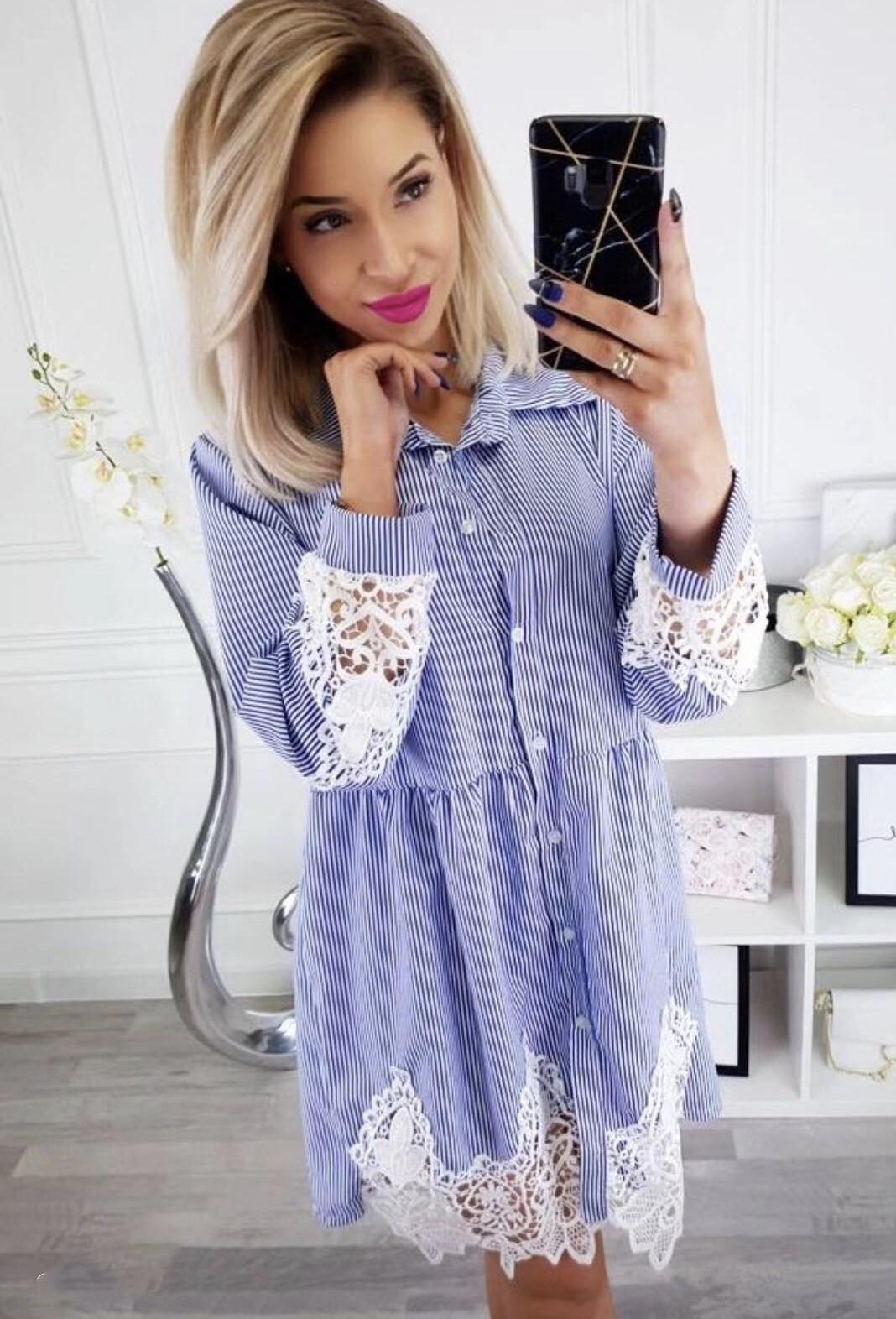 91905f41b89 Γυναικείο πουκάμισο με δαντέλα 3334 λευκό