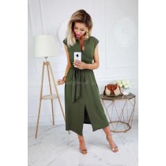 Γυναικείο φόρεμα 3503 πράσινο σκούρο