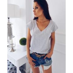 Γυναικείο κοντομάνικο μπλουζάκι  7387 γκρι