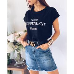 Γυναικείο κοντομάνικο μπλουζάκι 3021 μαύρο
