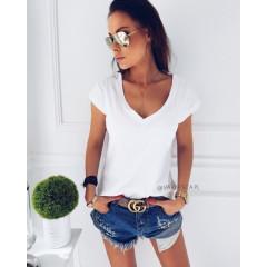 Γυναικείο κοντομάνικο μπλουζάκι  7387 λευκό