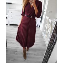 Γυναικείο φόρεμα 3550 μπορντό