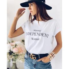 Γυναικείο κοντομάνικο μπλουζάκι 3021 λευκό