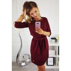 Γυναικείο φόρεμα 3327 μπορντό