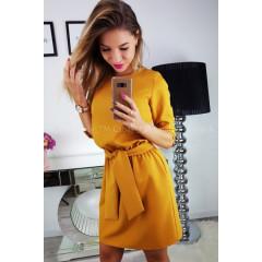 Γυναικείο φόρεμα 3327 κίτρινο