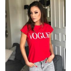 Γυναικείο κοντομάνικο μπλουζάκι Vogue 730517 κόκκινο
