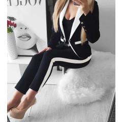 Γυναικείο σετ σακάκι και παντελόνι 3393 μαύρο