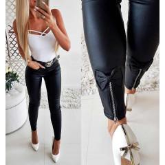 Γυναικείο παντελόνι με φιόγκο 2832 μαύρο