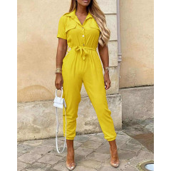 Γυναικεία ολόσωμη φόρμα 5098 κίτρινη