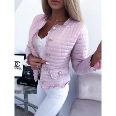 Γυναικείο ανοιξιάτικο μπουφάν 5520 ροζ