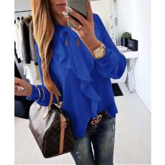 Γυναικείο πουκάμισο 1055 μπλε