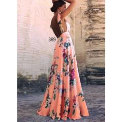 Γυναικείο φόρεμα 2338 ροδακινί