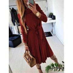 Γυναικείο φόρεμα 2239 μπορντό