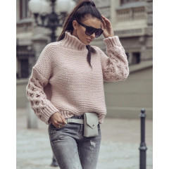 Γυναικείο πουλόβερ 7211 ροζ