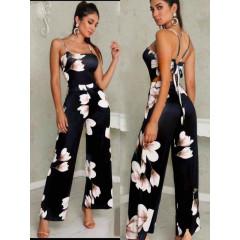 Γυναικεία ολόσωμη φόρμα φλοράλ 9199