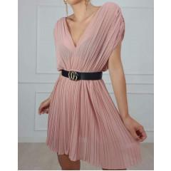 Γυναικείο χαλαρό φόρεμα σολέϊ 2316 ροζ