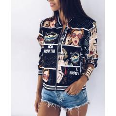 Γυναικείο μπουφάν 7238 μαύρο