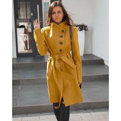 Γυναικείο παλτό 5081 μουσταρδί