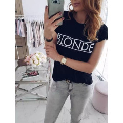 Γυναικείο κοντομάνικο μπλουζάκι 730502 Blonde