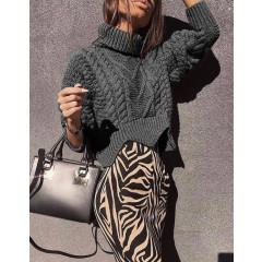 Γυναικείο πουλόβερ 1180 σκούρο γκρι