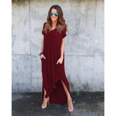 Γυναικείο φόρεμα 7503 μπορντό