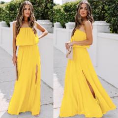 Γυναικείο φόρεμα 3094 κίτρινο