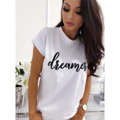Γυναικείο κοντομάνικο μπλουζάκι 730510 λευκό