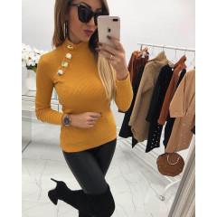 Γυναικεία μπλούζα 2881 μουσταρδί
