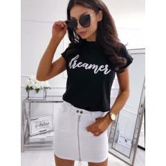 Γυναικείο κοντομάνικο μπλουζάκι 730510 μαύρο