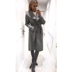 Γυναικείο παλτό 1220 γκρι σκούρο