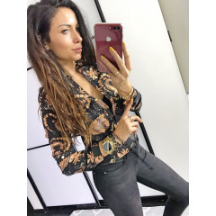 Γυναικείο πουκάμισο 7121 μαύρο