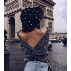 Γυναικείο πουλόβερ 0526 σκούρο γκρι