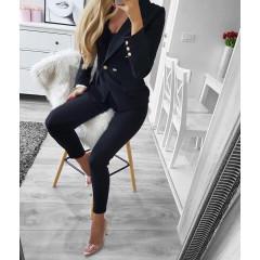 Γυναικείο σετ σακάκι και παντελόνι 2637 μαύρο