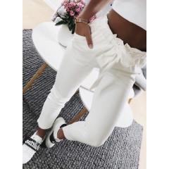 Γυναικείο παντελόνι 18069 άσπρο