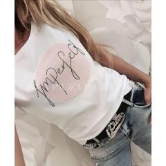 Γυναικείο κοντομάνικο μπλουζάκι 3108 λευκό