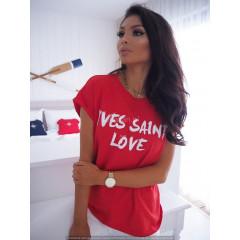 Γυναικείο κοντομάνικο μπλουζάκι 730513 κόκκινο