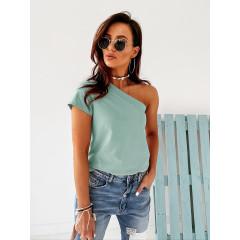 Γυναικεία μπλούζα με ένα μανίκι 5093 μέντα