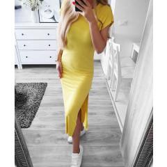 Γυναικείο φόρεμα 12277 κίτρινο