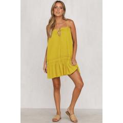 Γυναικείο φόρεμα 3659 κίτρινο