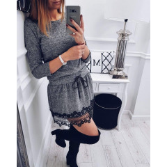 Γυναικείο φόρεμα 0241 γκρι