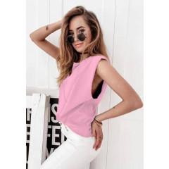 Γυναικείο αμάνικο μπλουζάκι 71521  ροζ