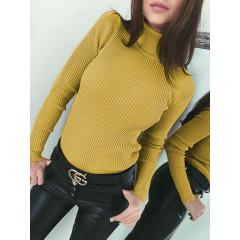 Γυναικεία μπλούζα ζιβάγκο 81026 μουσταρδί