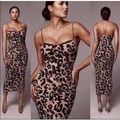 Γυναικείο φόρεμα με print 9498 μπεζ