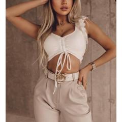 Γυναικεία εξώπλατη μπλούζα 4520 άσπρη