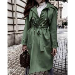 Γυναικεία σουέτ καμπαρτίνα 21635 σκούρο πράσινο
