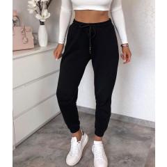 Γυναικείο αθλητικό παντελόνι με κορδόνια 4030 μαύρο