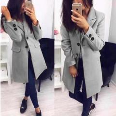Γυναικείο στιλάτο παλτό 19688 γκρι